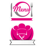 Menu project 3. Menu restaurant   project   3 Royalty Free Stock Photography