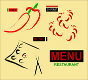 menu projektu restauracji Fotografia Royalty Free