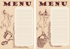 menu projektuje dwa Obrazy Royalty Free