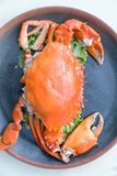 Thaimenu Queen Crab. Menu Queen Crab on disc at thai restaurant Royalty Free Stock Images