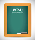Menu recommendations board sign Stock Photography