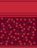 Menu on red background cherry Stock Photos