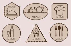 menu Reeks van pictogram Royalty-vrije Stock Foto's