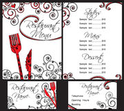 menu restauraci szablon Obrazy Stock