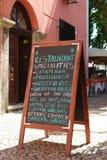 menu restauracja Zdjęcia Stock