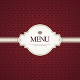 menu restauracja Obraz Stock