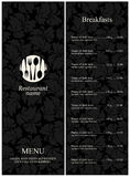 menu restauracja Obrazy Stock