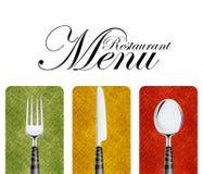 menu restauracja Fotografia Royalty Free