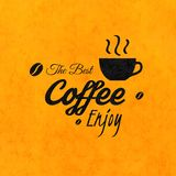Menu for restaurant, the best coffee enjoy, use Stock Photography