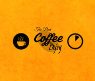 Menu for restaurant, the best coffee enjoy, use Stock Image