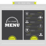 Menu for restaurant, cafe, bar, coffeehouse Royalty Free Stock Photography