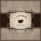 Menu for restaurant, cafe, bar, coffeehouse. Menu paper with a cup of cofee for restaurants or cafe, bar, coffeehouse. Vector illustration Stock Images