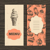 Menu for restaurant, cafe, bar, coffeehouse Royalty Free Stock Photos