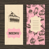 Menu for restaurant, cafe, bar, coffeehouse Stock Photography