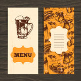 Menu for restaurant, cafe, bar. Oktoberfest Royalty Free Stock Image