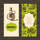 Menu for restaurant, cafe, bar. Olive vintage Stock Photography