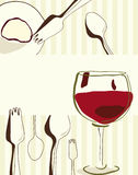 Menu or restaurant card. Retro stylization menu or restaurant card Royalty Free Stock Photo
