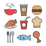 Menu restaurant design Stock Images