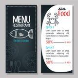 Menu restaurant design. Illustration Stock Images
