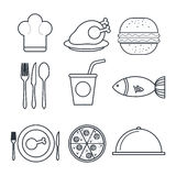 Menu restaurant design Stock Image