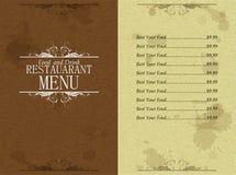Menu restaurant Stock Photo