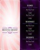 Menu restaurant Royalty Free Stock Photo