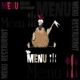 Menu for the restaurant funny chicken Royalty Free Stock Photography