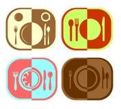 Menu or restaurant icons Royalty Free Stock Photos