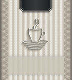 Menu restaurant lace natural paper 3D coffee Royalty Free Stock Photography