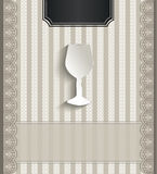 Menu restaurant lace natural paper 3D glass Royalty Free Stock Photography