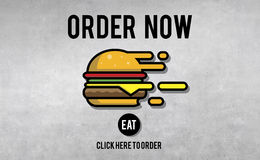 Menu Restaurant Order Now Online Burger Fast Food Concept Royalty Free Stock Photo
