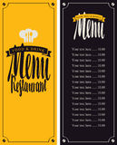 Menu for the restaurant Royalty Free Stock Images
