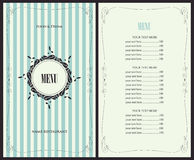 Menu for the restaurant Royalty Free Stock Photos