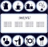 The menu restaurant Stock Image