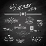 Menu for restaurant. Vector template chalkboard menu for restaurant and snack bars Stock Image