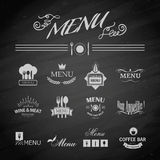 Menu for restaurant. Vector template chalkboard menu for restaurant and snack bars Royalty Free Stock Images