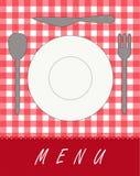Menu for restaurants. Vector illustration of plate, spon, fork and knife - background menu for restaurants Royalty Free Stock Photos