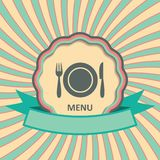 Menu retro label Royalty Free Stock Image