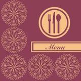 Menu - retro reasons. Card menu with retro models vector illustration