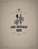 Menu in retro style Royalty Free Stock Images