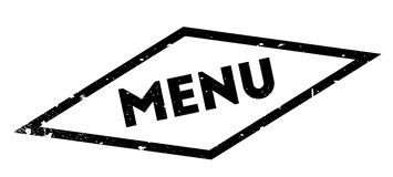 Menu rubber stamp Stock Photography
