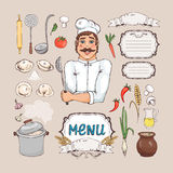 Menu for russian cuisine Stock Photos