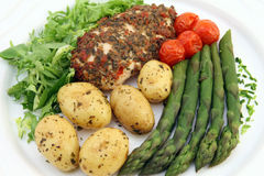 Menu saudável da dieta do restaurante com espaço da cópia Imagens de Stock