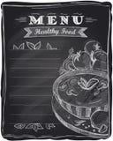 Menu saudável do alimento do giz. ilustração stock