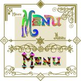 Menu,set Royalty Free Stock Photography