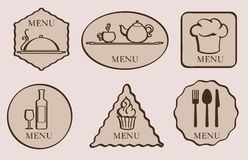 Menu. set of icon Royalty Free Stock Photos