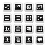 Menu settings tools buttons set Royalty Free Stock Image