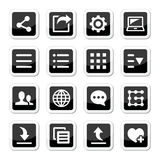 Menu settings tools icons set Stock Photography