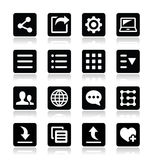 Menu settings tools icons set Royalty Free Stock Photography