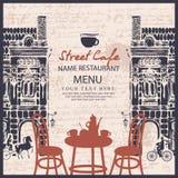 Menu for sidewalk street cafe Stock Photography